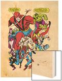 Giant-Size Avengers No.1 Group: Giant Man Wood Print by John Buscema