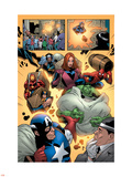 Marvel Adventures The Avengers No.14 Group: Captain America Plastic Sign by Kirk Leonard