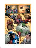 Marvel Adventures The Avengers No.14 Group: Captain America Plastic Sign by Kirk Leonard