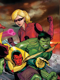 The Mighty Avengers No.23 Cover: Vision, Hulk and Stature Wall Decal by Khoi Pham