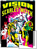 Vision And The Scarlet Witch No.2 Cover: Nuklo, Scarlet Witch, Whizzer and Vision Fighting Posters by Rick Leonardi