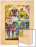 Giant-Size Avengers No.1 Group: Iron Man Wood Print by Don Heck
