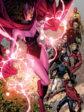Avengers: The Childrens Crusade No.5: Scarlet Witch, Wiccan, Patriot, Ant-Man, Stature, and Others Plastic Sign by Jim Cheung