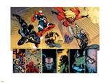 New Avengers No.56 Group: Spider-Man, Iron Patriot, Wolverine, Ms. Marvel, Ares and Hawkeye Plastic Sign by Stuart Immonen