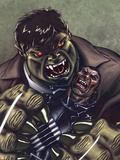 Ultimate Avengers 3 No.2 Cover: Blade and Hulk Fighting Plastic Sign by Ed McGuinness