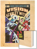 Vision And The Scarlet Witch No.1 Cover: Samhain, Scarlet Witch and Vision Wood Print by Rick Leonardi