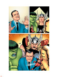 Avengers Classics No.1 Group: Hulk, Thor, Lee, Stan and Iron Man Plastic Sign by Kevin Maguire