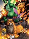 Avengers vs. Pet Avengers No.3: Lockjaw, Lockheed, and Fin Fang Foom Standing Plastic Sign by Ig Guara