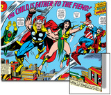Giant-Size Avengers No.1 Group: Thor, Captain America, Iron Man, Vision and Mantis Flying Prints by Rich Buckler