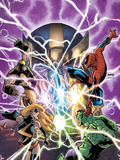 Avengers & The Infinity Gauntlet No.1 Cover: Ms. Marvel, Hulk, Wolverine, Spider-Man, and Thanos Plastic Sign by Humberto Ramos