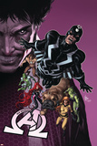 New Avengers 8 Cover: Medusa, Black Bolt, Lockjaw, Gorgon, Triton, Crystal, Karnak, Maximus Plastic Sign by Mike Deodato