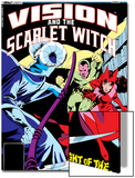 Vision And The Scarlet Witch No.1 Cover: Samhain, Scarlet Witch and Vision Posters by Rick Leonardi
