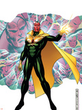Young Avengers Presents No.4 Cover: Vision Plastic Sign by Jim Cheung