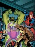 Avengers Classic No.2 Cover: Hulk, Giant Man, Iron Man, Thor and Space Phantom Plastic Sign by Arthur Adams