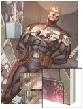 Steve Rogers: Super-Soldier Annual No.1: Panels with Steve Rogers Standing Wood Print by Ibraim Roberson