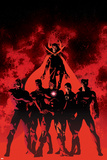 New Avengers 10 Cover: Black Bolt, Black Panther, Dr. Strange, Iron Man, Mr. Fantastic, Namor Wall Decal by Mike Deodato