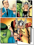 Avengers Classics No.1 Group: Hulk, Thor, Lee, Stan and Iron Man Prints by Kevin Maguire