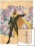 Young Avengers Presents No.4 Cover: Vision Wood Print by Jim Cheung