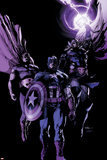Avengers 22 Cover: Hyperion, Captain America, Thor Plastic Sign by Leinil Francis Yu