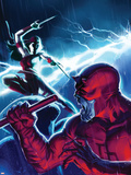 The Mighty Avengers No.16 Cover: Daredevil and Elektra Plastic Sign