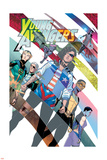 Young Avengers 8 Cover: Hawkeye, Hulkling, Loki, Marvel Boy, Miss America, Prodigy, Wiccan Plastic Sign by Jamie McKelvie