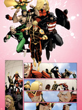 The Mighty Avengers No.32 Group: Wasp, Quicksilver, U.S. Agent, Hercules, Stature and Vision Wall Decal by Khoi Pham