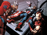 Avengers Finale No.1 Group: Captain America, Giant Man, Iron Man, Thor and Wasp Wall Decal by Neal Adams