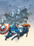 Marvel Team-Up No.6 Cover: Black Widow and Captain America Swinging Plastic Sign by Scott Kolins