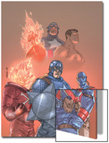 The New Invaders No.1 Cover: Captain America, Union Jack, Blazing Skull and Invaders Prints by Scott Kolins