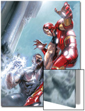 Avengers Annual No.1 Cover: Iron Man and Wonder Man Fighting Posters by Gabriele DellOtto