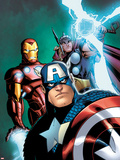 Avengers: Earths Mightiest Heroes No.3 Cover: Captain America, Iron Man, and Thor Plastic Sign by Patrick Scherberger