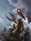 New Avengers No.45 Cover: Wolverine and Iron Man Plastic Sign
