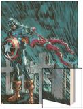 Captain America & The Falcon No.14 Cover: Captain America Wood Print by Dan Jurgens