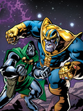 Avengers & The Infinity Gauntlet No.4 Cover: Thanos and Dr. Doom Fighting Prints by Brian Churilla