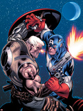 Avengers: X-Sanction No.1 Cover: Cable and Captain America Fighting Plastic Sign by Ed McGuinness