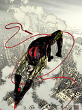 Daredevil No.66 Cover: Daredevil Fighting and Flying Plastic Sign by Alex Maleev