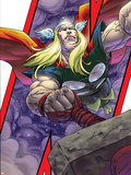 Avengers: Earths Mightiest Heroes No.3 Cover: Thor and Mjolnir Plastic Sign by Scott Kolins