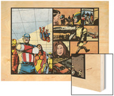 Pulse No.12 Group: Captain America, Spider Woman, Spider-Man, Iron Man, Wolverine and New Avengers Wood Print by Michael Gaydos
