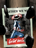 Captain America No.15 Cover: Captain America Plastic Sign by Mike Perkins