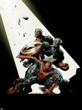 The New Avengers No.2 Cover: Spider-Man, Captain America, Luke Cage Plastic Sign by David Finch