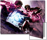 Avengers Annual No.1: Wonder Man and Iron Man Fighting Print by Gabriele DellOtto