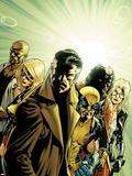 New Avengers No.6 Cover: Dr. Strange, Wolverine, Ms. Marvel, Luke Cage, Doctor Voodoo & Mockingbird Plastic Sign by Stuart Immonen