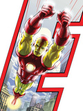 Avengers: Earths Mightiest Heroes No.3 Cover: Iron Man Plastic Sign by Scott Kolins