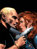Black Widow No.6 Cover: Black Widow Plastic Sign by Greg Land