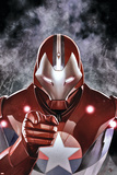 Ultimate Comics Ultimates 19 Cover: Iron Patriot Plastic Sign by Adi Granov