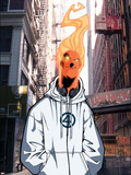 Human Torch V1, No.8 Cover: Human Torch Plastic Sign by Skottie Young