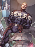 Steve Rogers: Super-Soldier Annual No.1: Panels with Steve Rogers Standing Plastic Sign by Ibraim Roberson
