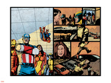 Pulse No.12 Group: Captain America, Spider Woman, Spider-Man, Iron Man, Wolverine and New Avengers Wall Decal by Michael Gaydos
