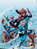 Marvel Adventures The Avengers No.19 Cover: Quicksilver Plastic Sign by Tom Grummett
