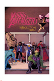 Young Avengers 14 Cover: Prodigy, Rockslide, Miss America, Broo, Gravity, Spider-Girl, Hulkling Plastic Sign by Jamie McKelvie